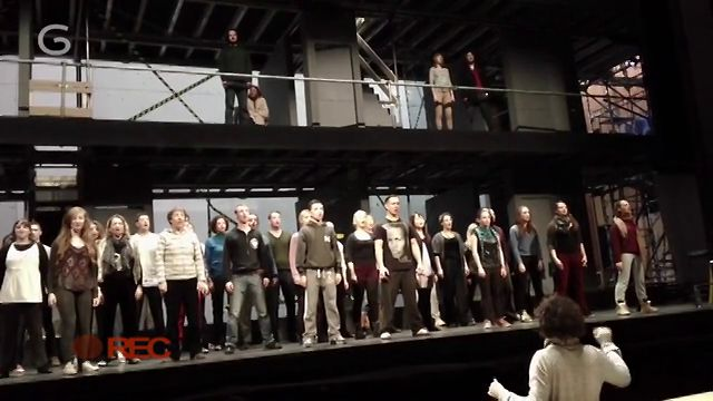 Chorus Cam: No 3 Preparing for the stage