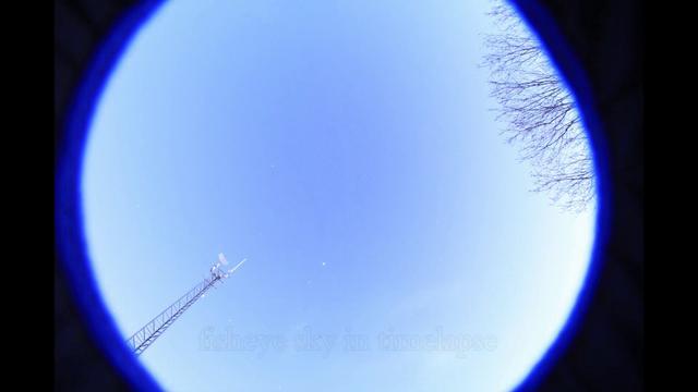 fisheye sky in timelapse
