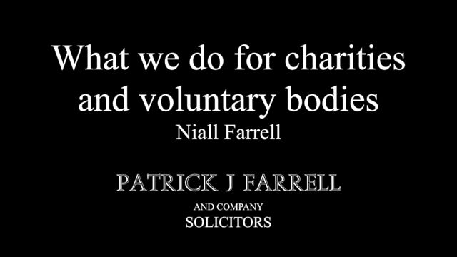 What we do for Charities, Voluntary Bodies and Religious Congregations