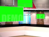 Virtual Studio 12 – Desk 01 with monitors and Animated