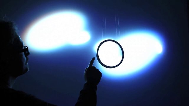 """Semioptics for Spinoza"" (2012) by Rafael Lozano-Hemmer"