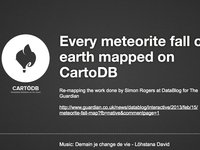 HOWTO: Every meteorite fall on earth mapped on CartoDB
