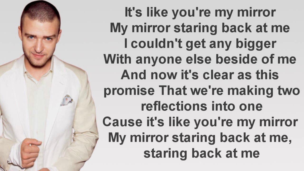 Mirrors justin timberlake lyrics for Mirror justin timberlake lyrics