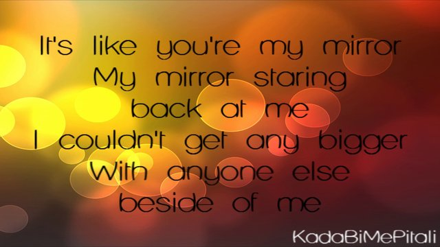 Mirror justin timberlake for Mirror mirror lyrics