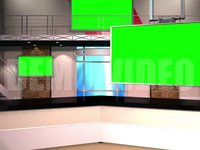 Virtual Studio 12 – Desk 01 – with monitors Right Animated