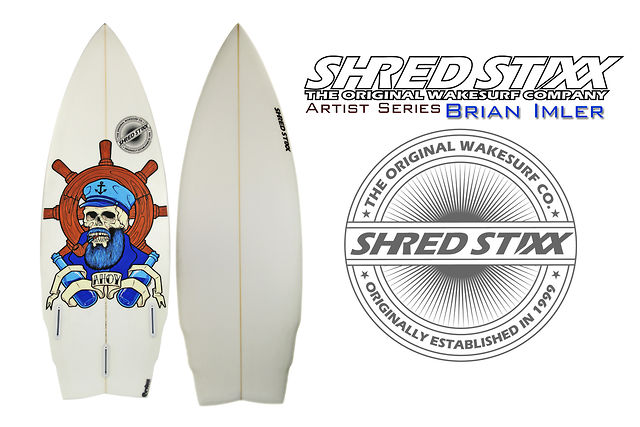 Artist Series Wakesurf Board from Shred Stixx Wakesurf Company