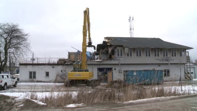 Demolition Time Lapse of A1 Air Conditioning & Heating Building, Oakville, February 19 & 20, 2013