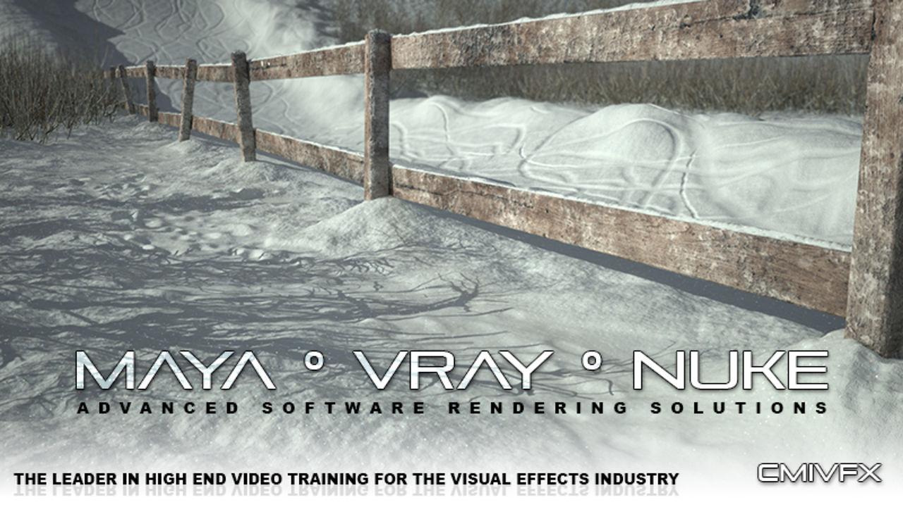 SNOW LANDSCAPE Complete - Maya VRay Nuke PIPELINE
