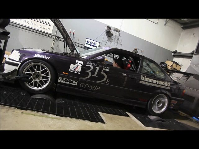 1998 BMW M3 GTS3/IP Race Car Dyno RunDyno Run