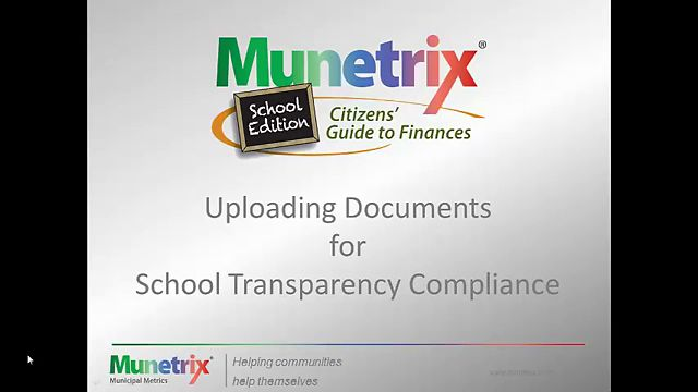 Upload Documents for School Transparency Compliance