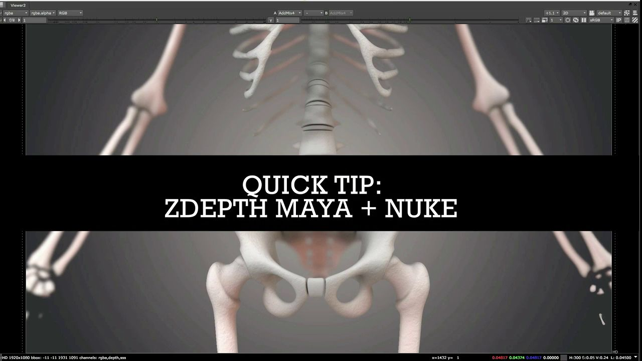 Quick Tip: Creating a Simple Depth Map Pass Manually in Maya for Nuke Composites