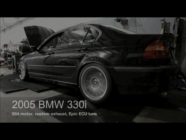 2003 BMW 330i with S54 Engine Swap Dyno Run