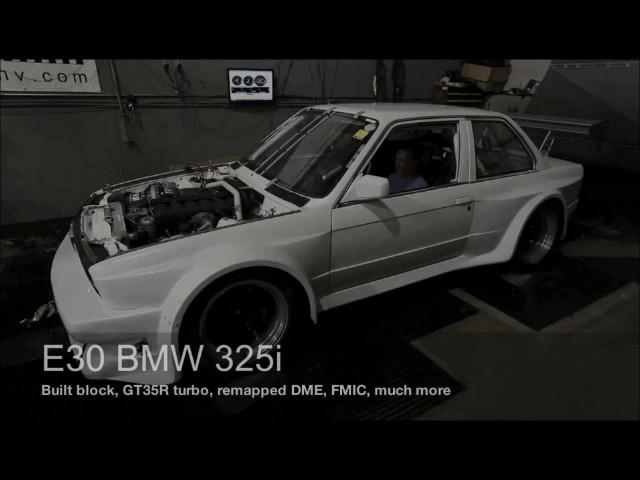 E30 S52 Turbo Swap Low Boost Dyno Run