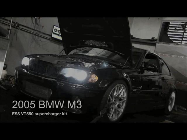 2005 E46 with ESS VT550 Supercharger Dyno Run