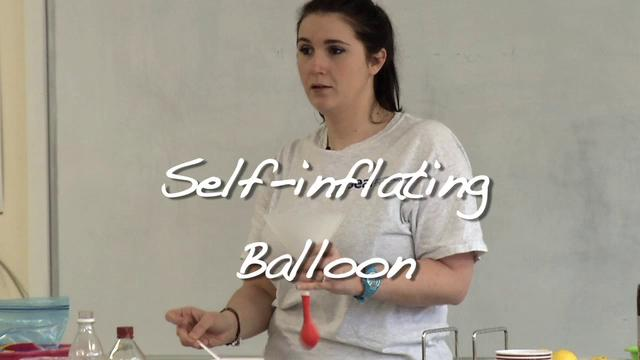 Self Inflating Balloon Experiment Self-inflating Balloon