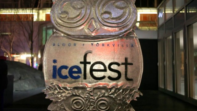 8th Annual Bloor Yorkville IceFest Featuring Majestic Ice Sculptures, Toronto, February 23 & 24, 2013