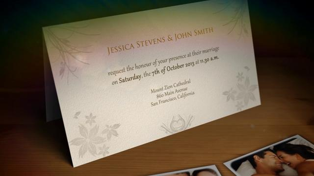 After Effects Template: Wedding Invitation / Wedding Announcement