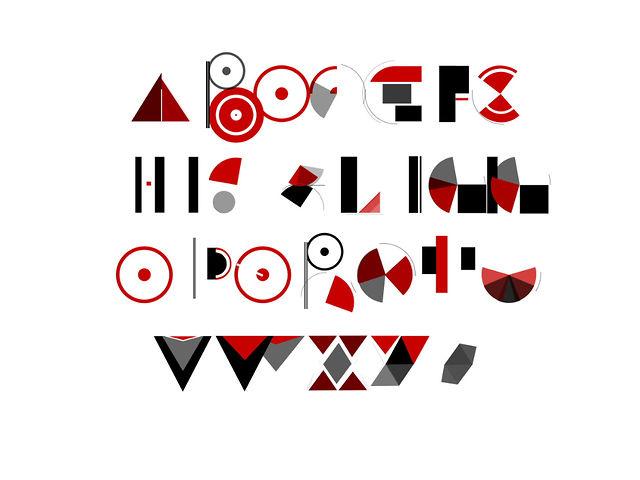 Alphabet in motion – Barcenova type
