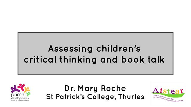 Assessing Children's Critical Thinking An Book Talk