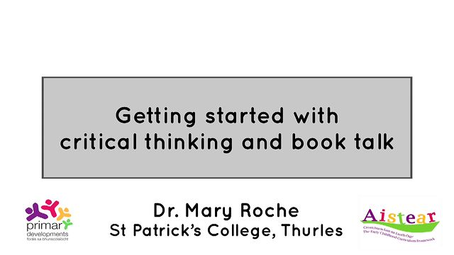 Getting Started With Critical Thinking And Book Talk