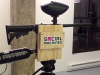 PaintBot, de 'tweet-om-te schieten' social machine