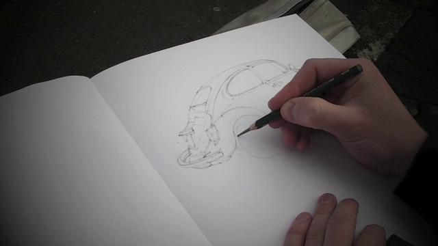 Einen k fer zeichnen drawing a beetle dessiner une - Dessiner une coccinelle ...