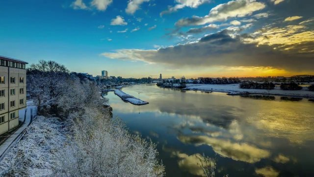 Timelapse Arnhem winter 2