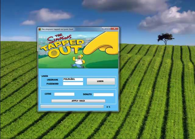 Download The Simpsons Tapped Out Hack Tool with Cheats updated 2013