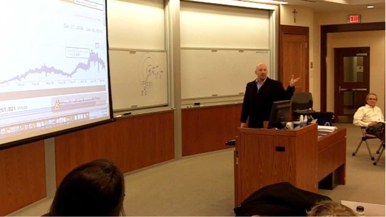 Daniel R. Odio - Guest Speaker at Georgetown University MBA Entrepreneur Class