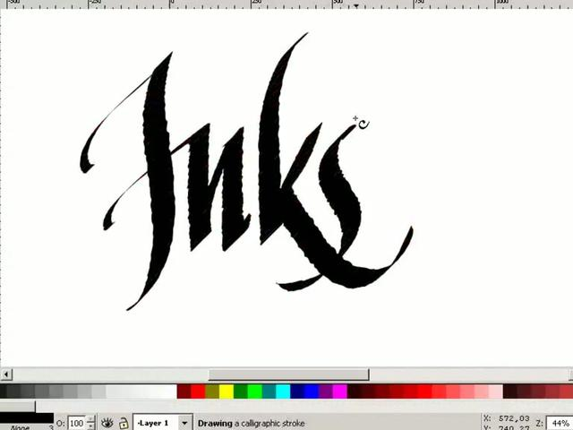 Inkscape Digital Calligraphy On Vimeo