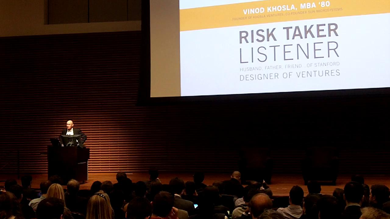 Vinod Khosla Stanford Event