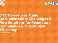 Webinar OTC Derivatives Trade Documentation Challenges