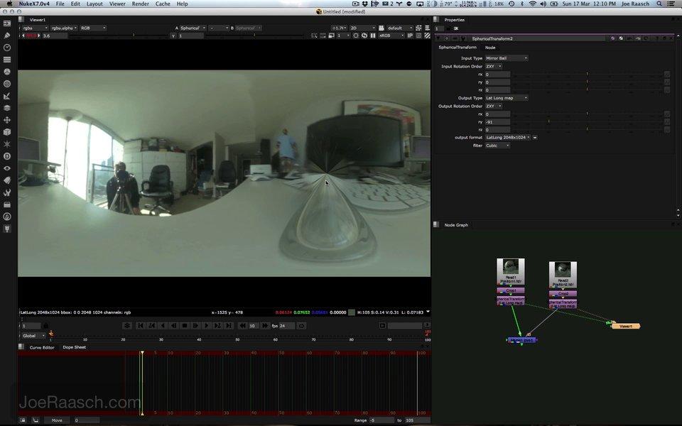 HDRI Tutorial with Nuke, Maya and Photoshop