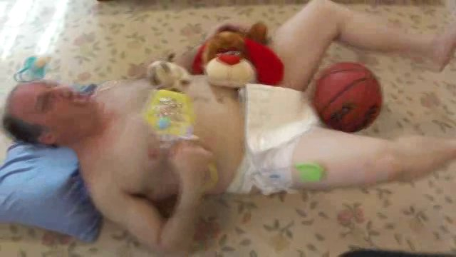 Cute Baby with puppy and kitten gets hit in the balls!