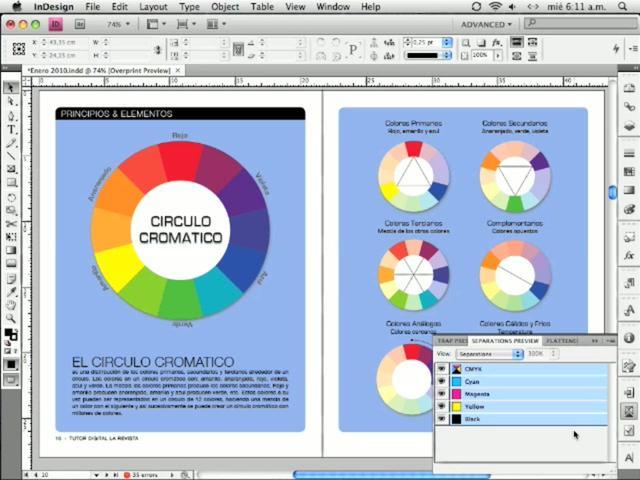 InDesign - Gestión del color, trabajando con CMYK