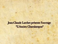  LAncien Charalampos : extrait de la vido de la prsentation du livre  Paris