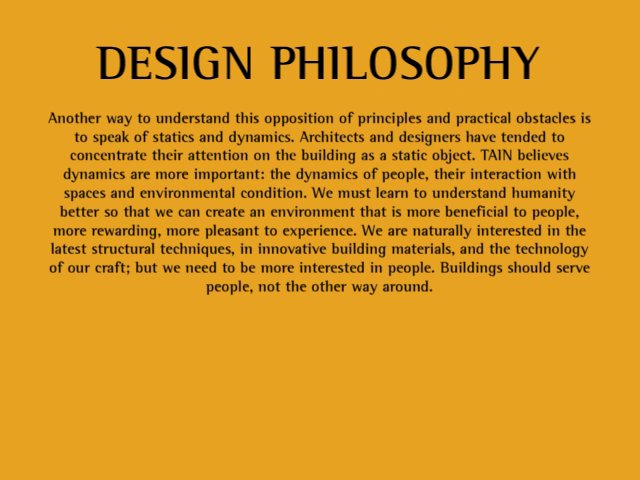 Tain design philosophy on vimeo for Philosophy design