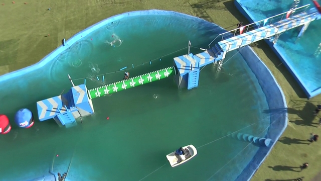 "ABC's ""Wipeout"" TV show - Aerial Clip 1"