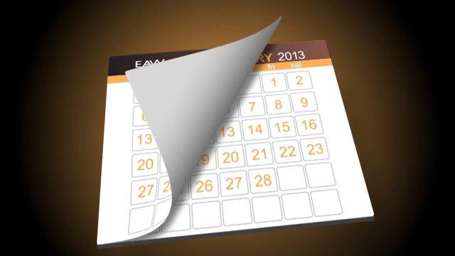 calendar flip template preview on vimeo. Black Bedroom Furniture Sets. Home Design Ideas