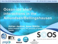 AJenkins & AWahlin-Ocean-ice shelf interactions in the Amundsen/Bellingshausen