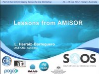 LHerraiz-Borreguero-Lessons from AMISOR