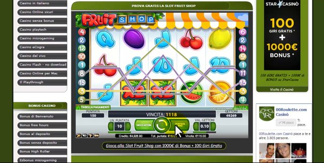 slot machines gratis giochi
