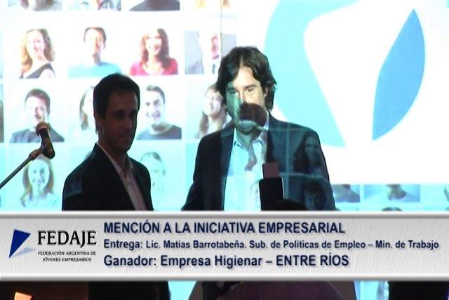 Premio Joven Empresario 2012