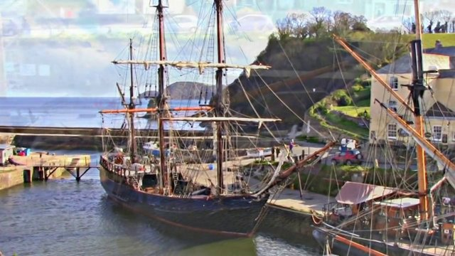 Charlestown Cornwall UK With Original Ambient Music HD