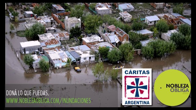 Caritas Colecta Solidaria por los damnificados de las Inundaciones Dona lo que puedas Una causa de Caritas Argentina