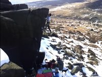 Snowballing at Stanage and Burbage South