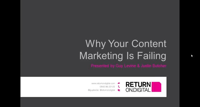 Content Marketing - A Webinar by Return On Digital
