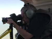 BTS shooting DSLR from Bell Jet Ranger 407