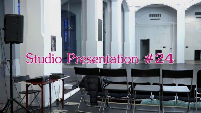Studio Presentation #24, March 29, 2013