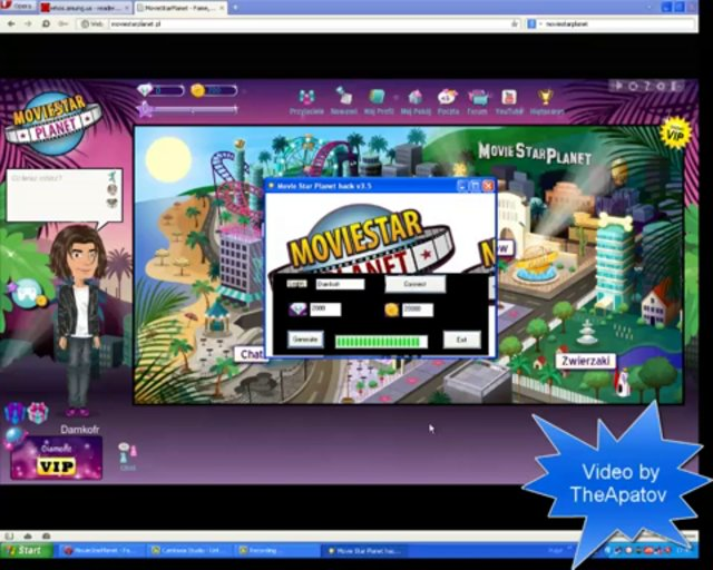 MovieStarPlanet Hack v3.5 msp hacker diamonds and coins cheat Free